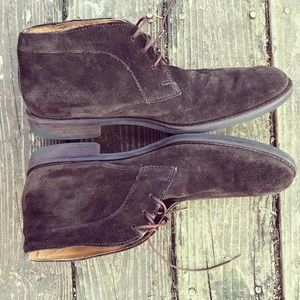 Johnston & Murphy Brown suede lace-up shoes